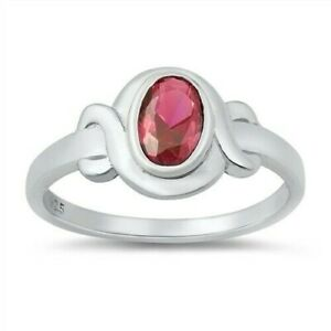 Toe Ring Genuine Sterling Silver 925 Ruby CZ Face Height 8 mm Selectable Gift