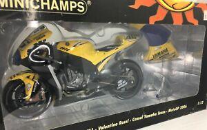 Minichamps * 1:12 Scale Valentino Rossi * Yamaha YZR-M1 *Camel Team *MotoGP 2006