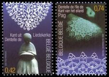Belgium**LACE-2 stamps-JointIssue CROATIA-DENTELLE-SPITZE-KANT-2002-MNH