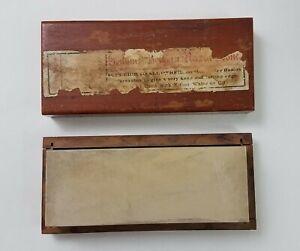 Vintage Belgian Coticule Razor Hone Sharpening Stone w/ Wood Box