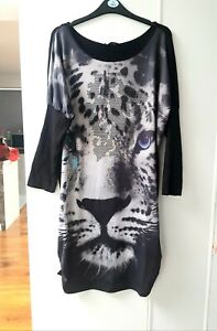 SLOUCH OVER SIZED TOP DRESS LIONS DRESS UK 16-18 NEW