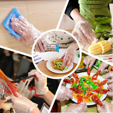 100pcs Disposable gloves clear plastic thin food hygiene gloveshousework kitchen
