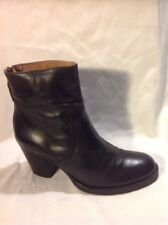 Sixtyseven Black Ankle Leather Boots Size 36