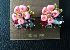 Multi-Coloured Stud Costume Earrings
