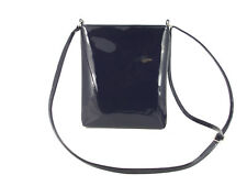 LONI Cross-Body Shoulder Bag Handbag, Faux Patent Leather, Compact Size