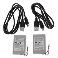 2PCS Replacement Battery Pack For SONY PS3 Controller &USB Charger Cable N8H4