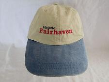 Fairhaven Baseball Cap Dad Hat Strapback Unstructured 2 Two Tone WA Bellingham