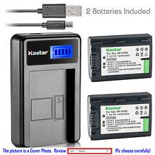 Kastar Battery LCD Charger for Sony NP-FH50 & Sony Cyber-shot DSC-HX1 DSC-HX100