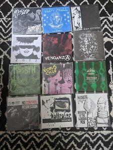 """30 Punk Hardcore Metal Indie Crust Grind Screamo 7"""" Vinyl Records EPs Lot diy 45"""