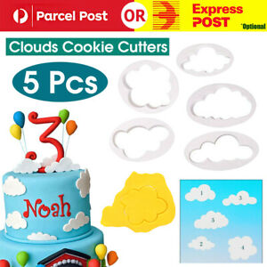 5 Pcs Clouds Cookie Cutters Baking Decorating Mold Fondant Biscuit Cutters Tool