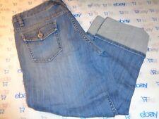 "$79 Banana Republic size 6 capri jeans 30' waist medium wash 22"" rolled inseam"