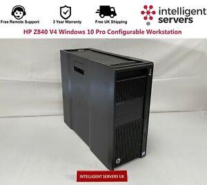 HP Z840 V4 Windows 10 Pro Configurable Workstation
