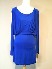Nwt French Connection Electric Blue- Feather Frost Jersey 100% Rayon Dress Sz.6