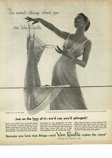 1954 VAN RAALTE Slip Lingerie woman posing gracefully VINTAGE PRINT AD