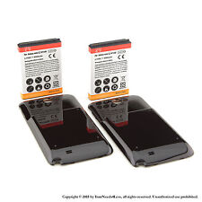 2 x 6500mAh Extended Battery for Samsung Galaxy Note II GT-N7100 Black Cover
