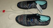Mossimo Supply Co Navy Blue Red Black Print  Lunea Canvas Sneakers  New Size 6