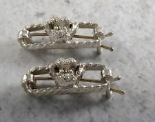 Vintage Hair Barrette Pair Silver Tone Metal Poodle Dog Puppy Hair Accessory
