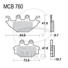 Kymco MXU 300  BJ 2006-2010 - 19,3 PS, 14,2 kw - Bremsklötze vorn TRW Lucas Sint