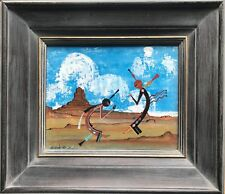 Original oil painting by Navajo Artist David Paladin aka. Chethlahe  (1926-1984)