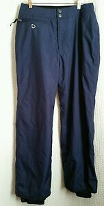 Burton Snowboard Ski Pants Navy Blue/Purple Lined Womens Sz M Bio Lite Biolite