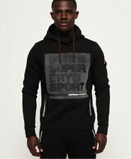 Superdry Mens Gym Tech Stretch Graphic Overhead Hoodie
