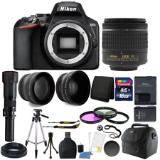 Nikon D3500 24.2MP Digital SLR Camera with 18-55mm and 500mm Lenses and Top Kit