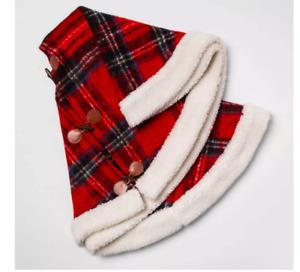 "Threshold Tree Skirt Red/Black/White Plaid 50"""