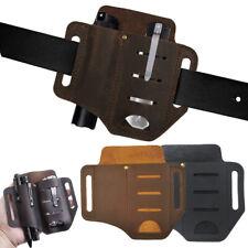 Pouch for Flashlight Belt Loop Organizer EDC Leather Sheath Tactical Pen