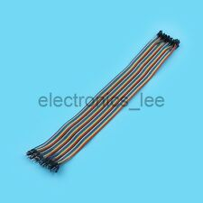 40pcs 30cm 1p-1p Connector Male to Female Dupont Wire Cable Line 2.54mm