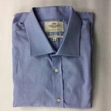 Hawes & Curtis Jerym St London Blue Long Sleeve Button Down Shirt size 11/36