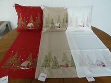 Sander Tischdecken Weihnachten WINTER LODGE,  in 3 Grundfarben Artikel auswählen