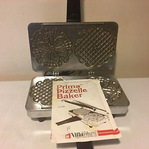 VillaWare Prima Pizzelle Maker Baker Italian Cookie Iron Non Stick 5000-NS
