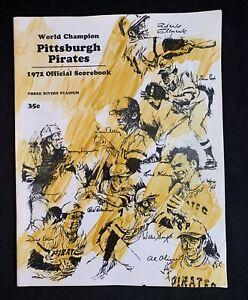 1972 Pittsburgh Pirates Official Scorebook Three Rivers Stadium MLB