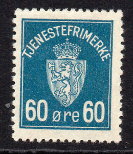 Norway 60 Ore Stamp c1926 Mounted Mint Hinged (139b)