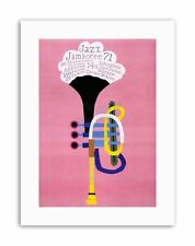 Jazz Pologne Trompette Abstract Poster Exposition Toile Art Prints