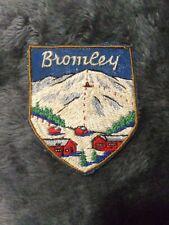 Rare Vintage BROMLEY Vermont Souvenir Ski  Resort Patch Skiing