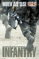 MILITARY POSTER ~ INFANTRY WON BY MEN 24x36 U.S. Army Marines When All Else Fail