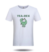 TEA REX MENS WOMENS T SHIRT FUNNY JOKE PUN JURASSIC DINOSAUR DRINK COFFEE UNISEX