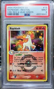 2004 Pokemon EX RAPIDASH Reverse Holo Rare #13/112 FIRE RED & LEAF GREEN PSA 9