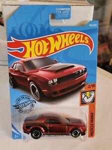 2020 Hot Wheels Super Treasure Hunt '18 Dodge Challenger SRT Demon Carded
