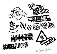 Stickerset Winter-Aufkleber NEW Winterauto für alle Allrad-Auto Anfänger  s 11