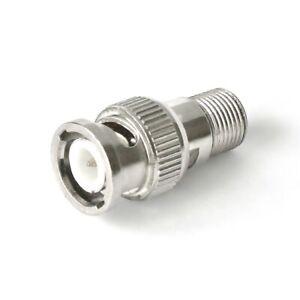 Adapter BNC-Stecker an F-Buchse / Kupplung Metall