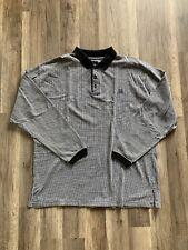 Givenchy Striped Long sleeve Polo Size Large Black/White