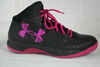 Under Armour Basketball Athletic Shoes Womens 10 Jet Black Pink 1259035-064