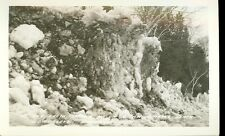 MANISTIQUE,MICHIGAN-ICE&EARTH THROWN UP ON OSSAWINAMAKEE BEACH-RPPC (MICH-M)
