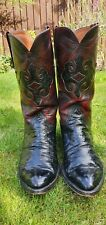 Lucchese Classics Ostrich Skin Cowboy Boots 11D True Vintage Handmade Boots