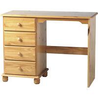 Sol 4 Drawer Dressing Table Antique Pine Wooden Bedroom Makeup Dresser Cabinet