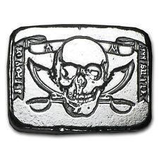 5 oz Silver Bar - Atlantis Mint (Pirate Skull & Crossed Swords) - SKU #89446