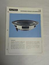 Vintage Original Altec 755E Extended Range Loudspeaker Specification Sheet (A3)