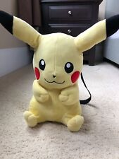 Pokemon Pikachu Plush Doll Backpack 16' Nintendo Game Costume Bag New With Tags